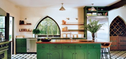fotos de cozinha verde