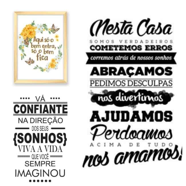 ideias de quadros com frases
