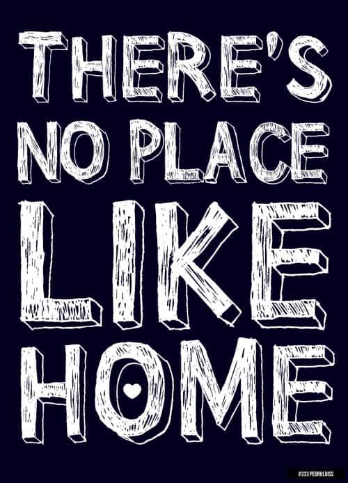 não há lugar como o lar
