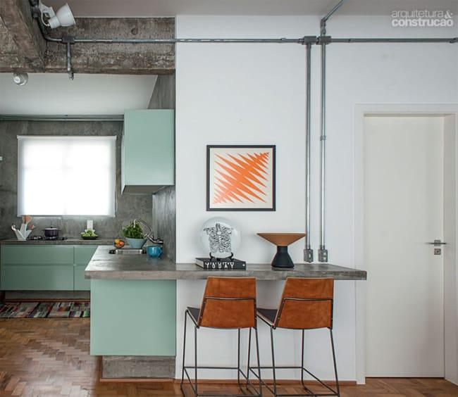 projetos com Tubulação aparente na cozinha