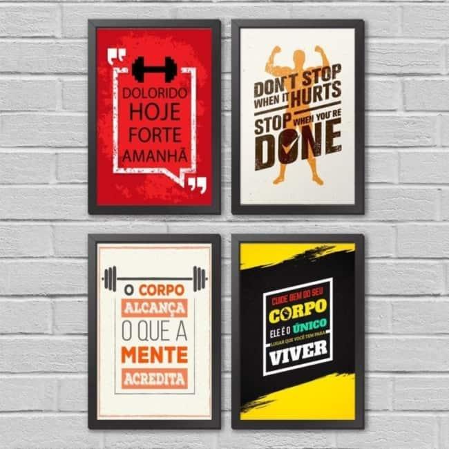 quadros com frases de motivação