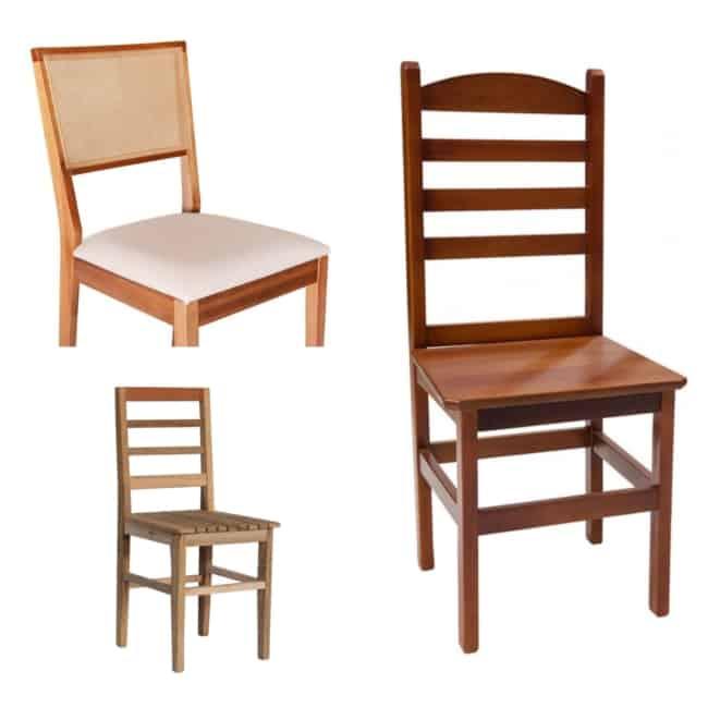 tipos de Cadeira de Madeira