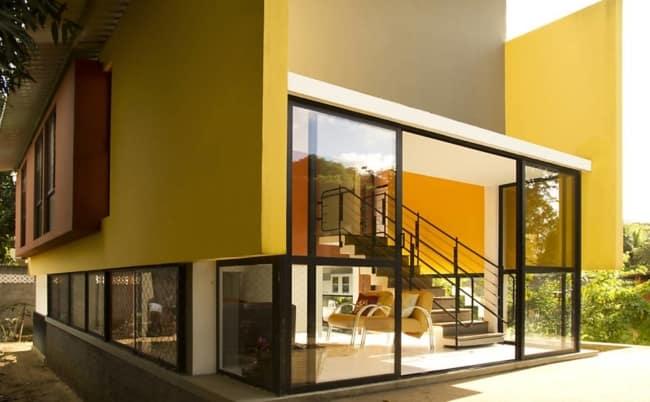 Área externa amarela super elegante