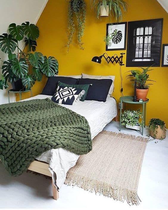 quarto amarelo e verde