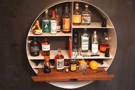 mini bar redondo de parede