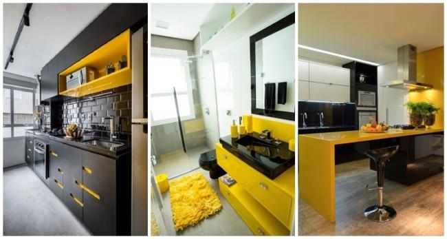 decoração em amarelo e preto