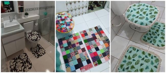 jogo de tapete de tecido