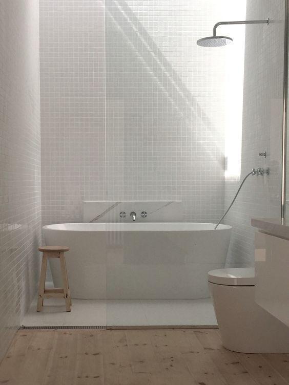 banheiro moderno com banheiro minimalista pequena