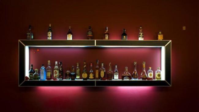bar de parede moderno com led