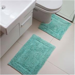 conjunto de tapete simples para banheiro