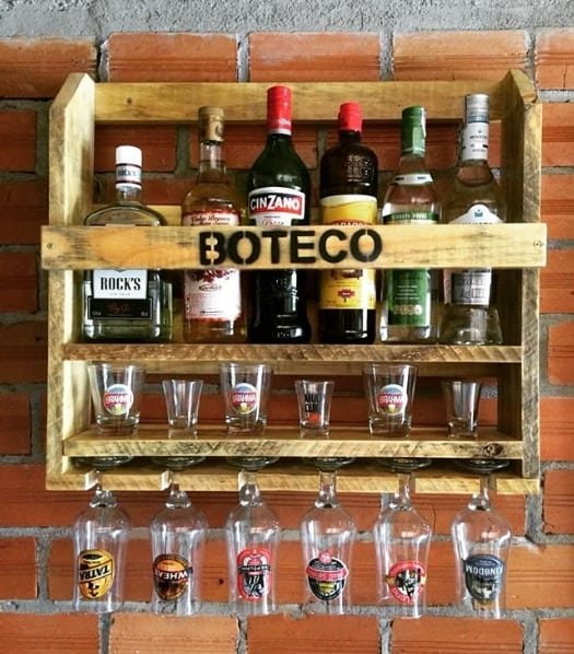 mini bar rústico