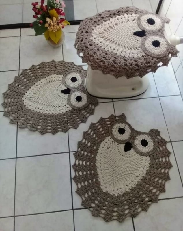tapetinhos de coruja para banheiro
