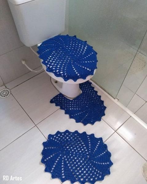 jogo de banheiro azul