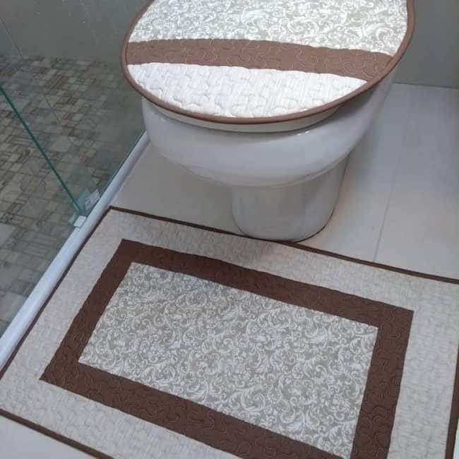conjunto em patchwork para banheiro