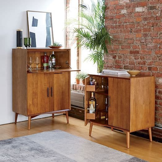 Aparadores em madeira retrô para bar