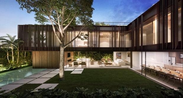 Arquitetura moderna para mansão luxuosa de milhões de reais