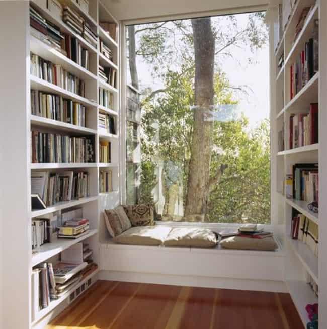 Cantinho da leitura na janela36