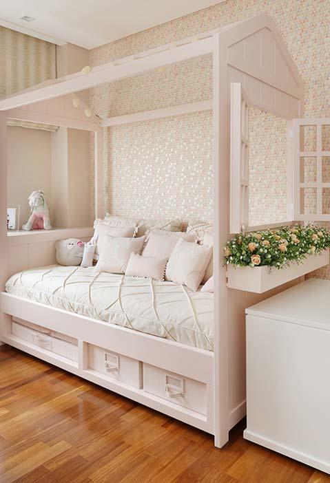 Casinha cama para quarto bem delicado e feminino