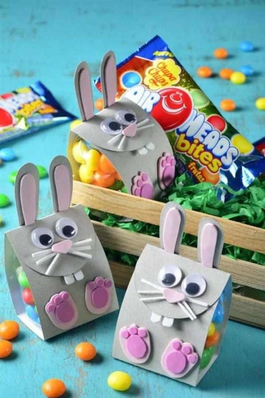 Coelhinhos de papel para lembrancinhas de Páscoa para vender