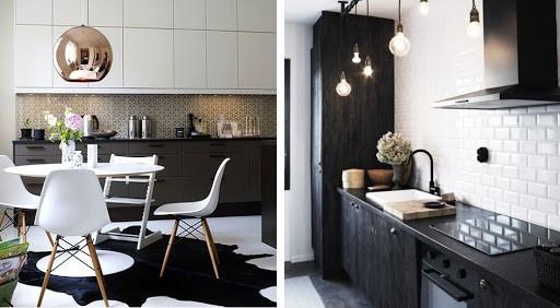 Cozinhas lindas em preto e branco