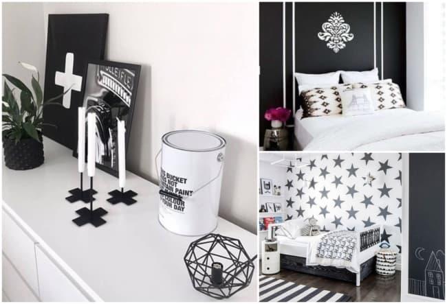 Decoração em preto e branco 1