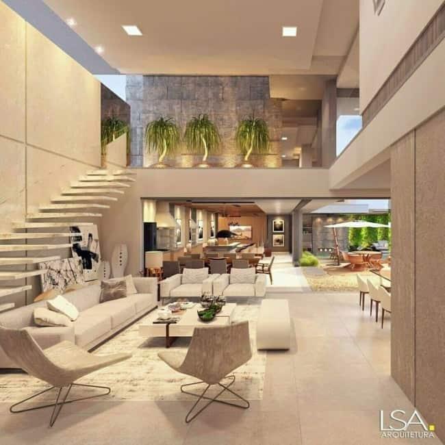 Decoração luxuosa para sala de mansão