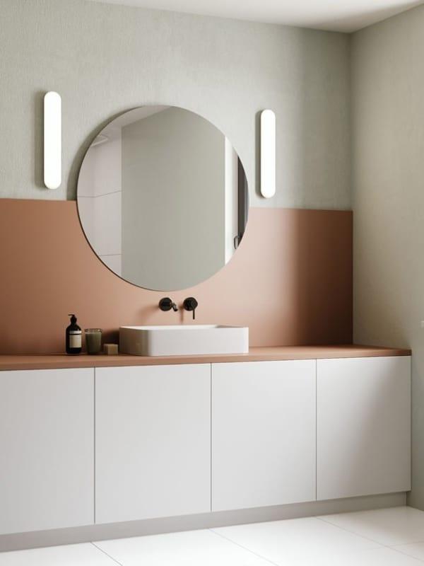 Duas cores para banheiro moderno