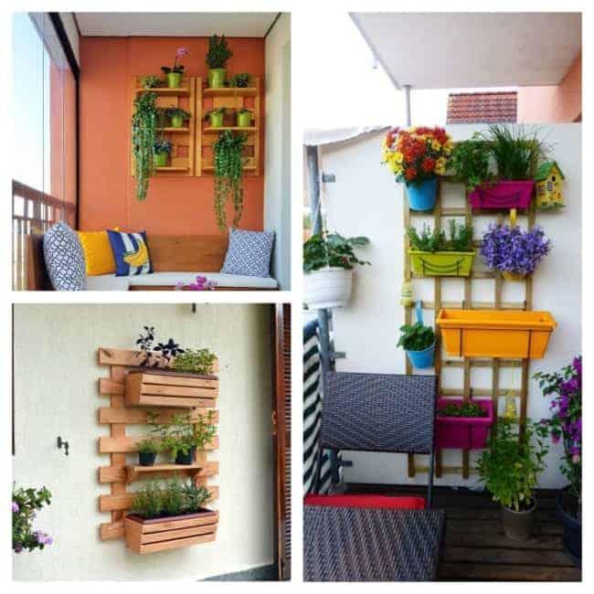 Floreira de madeira para parede1