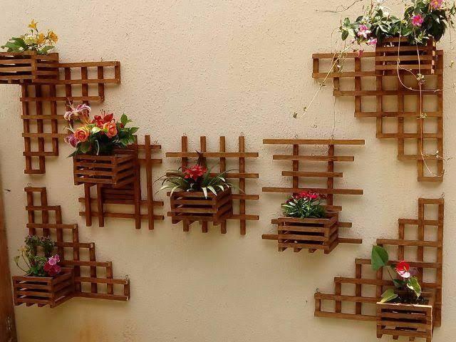 Floreira de madeira para parede9