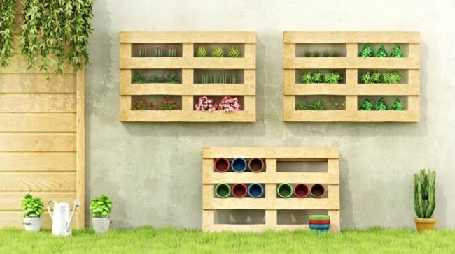 Floreira de paletes para parede23