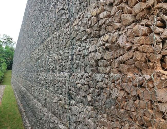 Gabião muro