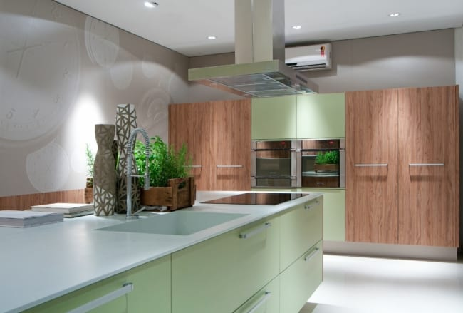 Greenery na cozinha decorada