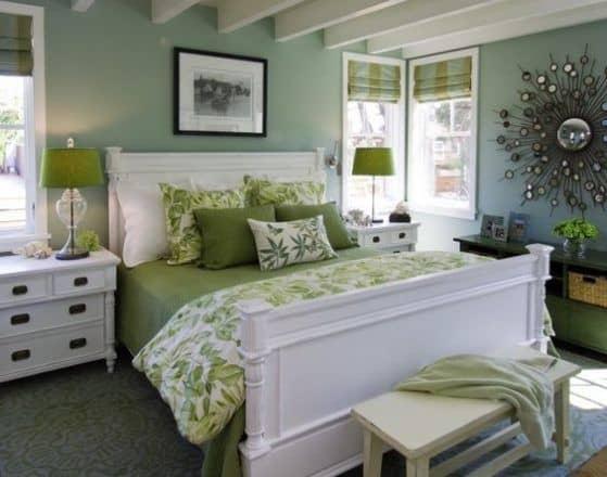 Greenery na decor do quarto
