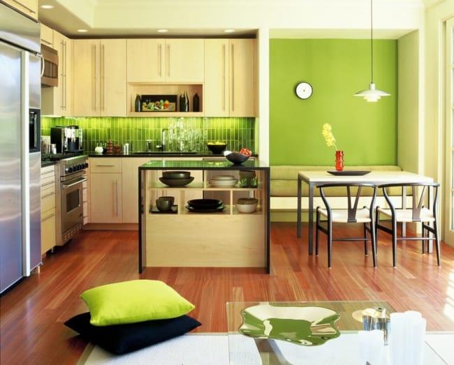 Greenery na decoração da cozinha