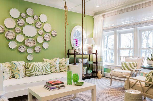 Greenery na decoração da sala