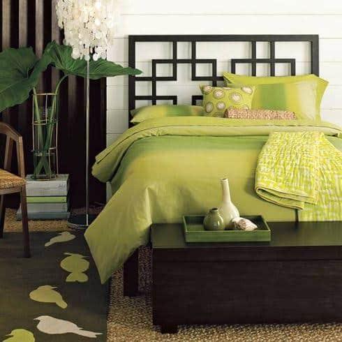 Greenery no quarto