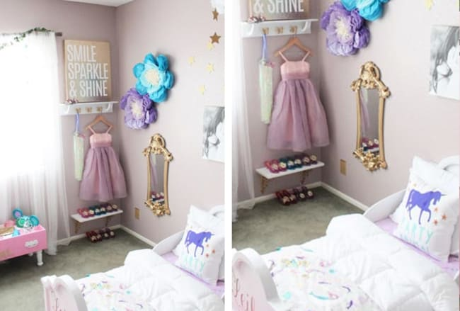 Ideia de como decorar quarto estilo princesa infantil