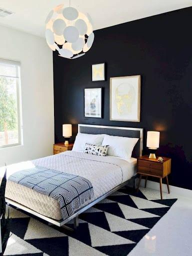 Ideia de quarto com a base decorativa em PB