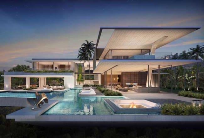 Mansão com design moderno e piscina
