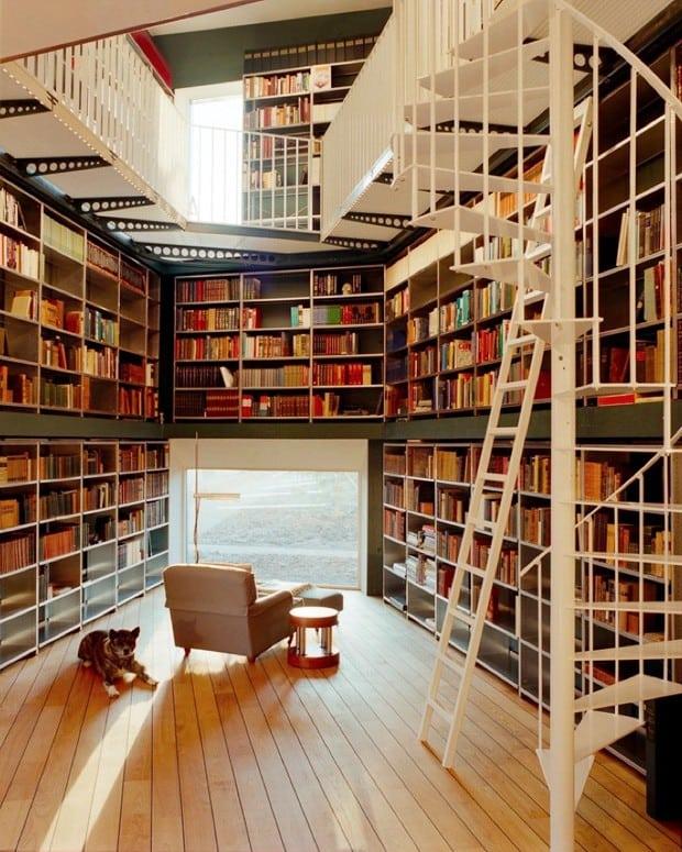 Mansões podem ter bibliotecas incríveis