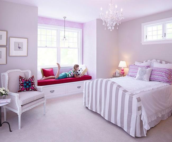 O lilás também é muito usado em quartos infantis femininos