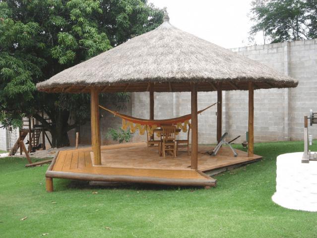 O preço do quiosque de madeira depende do tipo de projeto