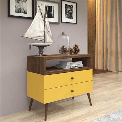 Outro modelo lindo de aparador amarelo retrô