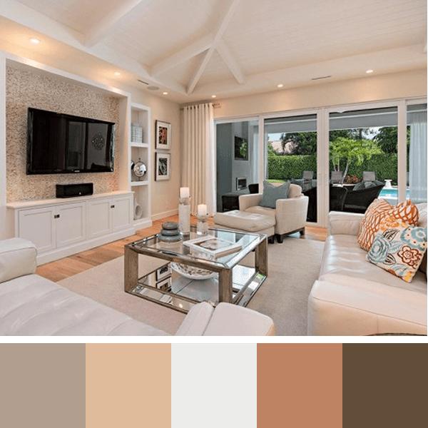 Paleta de cores para parede da sala