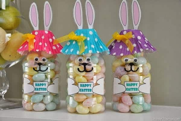 Porta doces de Páscoa em garrafa PET29