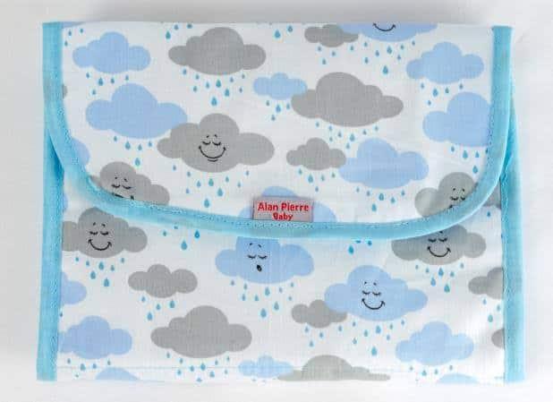 Porta-fraldas de nuvem estampado