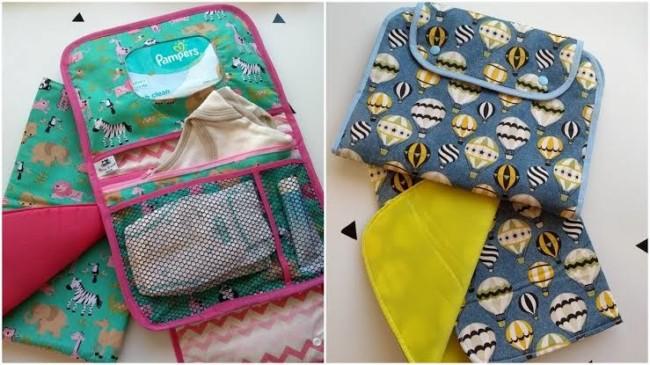 Porta-fraldas portátil com estampa de balões