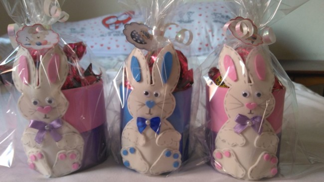 Potinhos decorados de EVA para Páscoa