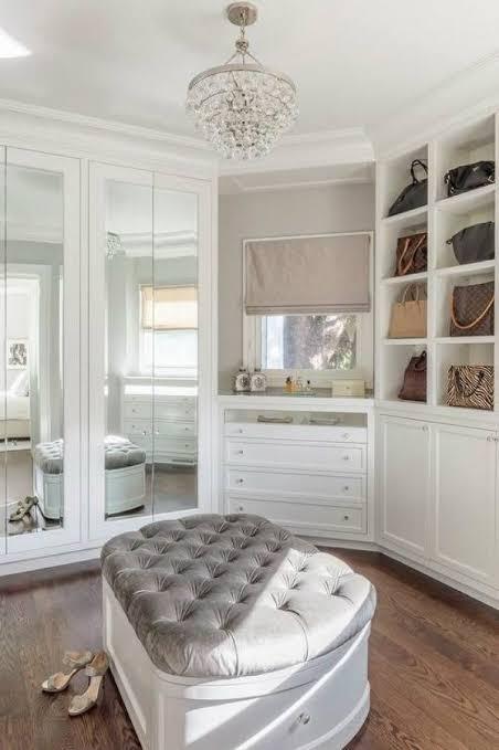 Recamier cinza para closet