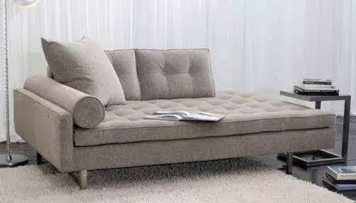 Recamier sofá bege